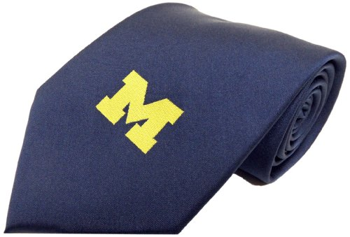 NCAA Michigan Wolverines Solid Necktie