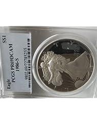 1986 S American Eagle Dollar PR69 PCGS