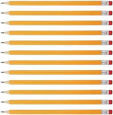 Lapices (Pack de 144) - 2HB Lápices con Punta y Goma de Borrar Lapices de Madera Amarillos Suministros Escolar, Dibujar, Bocetos – Aptos para Niños y Adultos: Amazon.es: Oficina y papelería