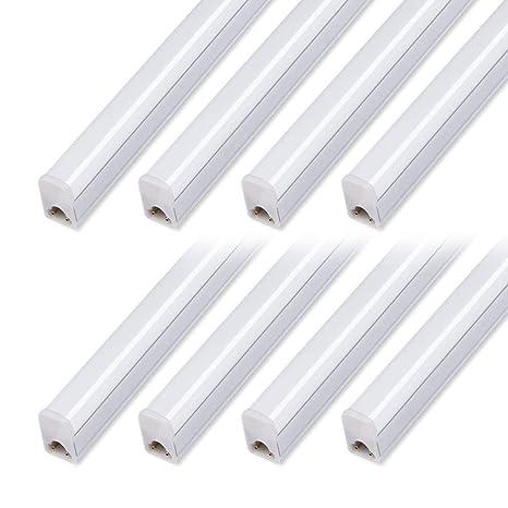 online store 09ae8 9b5ad Kihung T5 LED Tube Light Fixture 4ft, 20W, 2200lm, 4000K, Led Light Strip  for Shop, 8-Pack