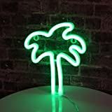 Palm Tree LED neon Sign Night Light Coconut Tree Marquee Night lamp Table Light Best Gift for Family Birthday Holiday Party