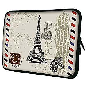 """Paris Post Card Laptop Sleeve Case for MacBook Air Pro/HP/DELL/Sony/Toshiba/Asus/Acer --- SIZE:11"""""""