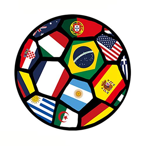 Rugs Pad Carpet Creative 3D Printing Football Nordic Minimalist Fashion Mat Elegant Round Carpets Bedroom World Cup Carpet (Color : 80 cm)