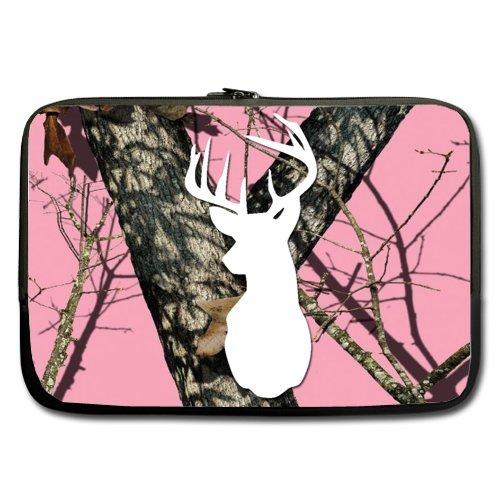 Funny Laptop Bag - Special Pink Camo Tree Deer Head 15,15...
