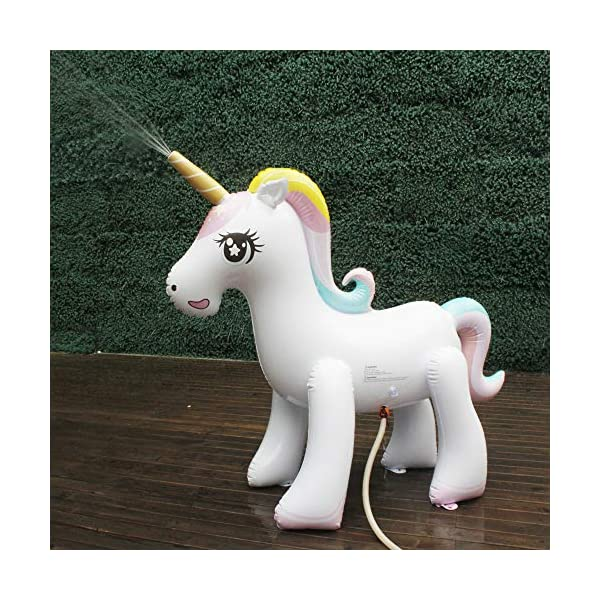 Happytime Giant Inflatable Unicorn Yard Sprinkler Newest Outdoor Inflatable Unicorn Sprinker Water Toy for Adults Kids… 4