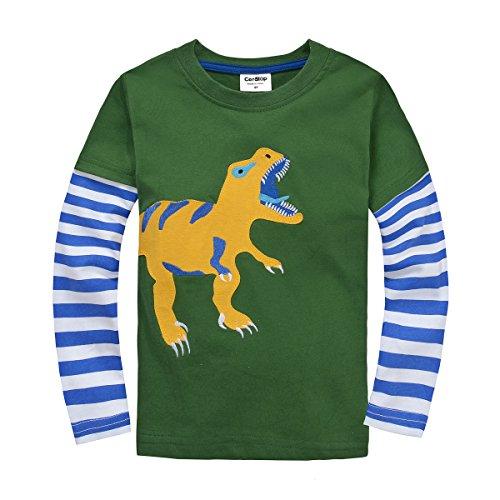 Boys/Girls T-Shirt Cotton Long Sleeve Dinosaur ()