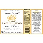 Sonoma Syrup Co Vanilla Almond Simple Syrup 4 natural orgeat