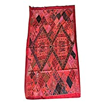 Mogul Vintage Kutch Tapestry Embroidery Bohemian Decor Wall Hanging Throw Festival Décor