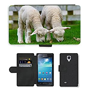 GoGoMobile Flip PU Leather Wallet Case with Credit Card Slots // M00117706 Sheep Lamb New Zealand Countryside // Samsung Galaxy S4 Mini i9190