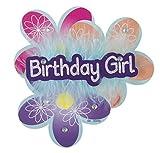 "5"" Deluxe Flower Birthday Girl Button"