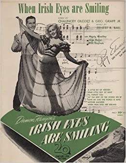 when irish eyes are smiling sheet music 20th century fox pictures