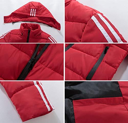 Rojo Chaqueta Algodón Capucha Hombre chaqueta Casual Corte Invierno Cálida Para De Tops Acolchada Con Corta Térmica Huan Slim xgdTwBB
