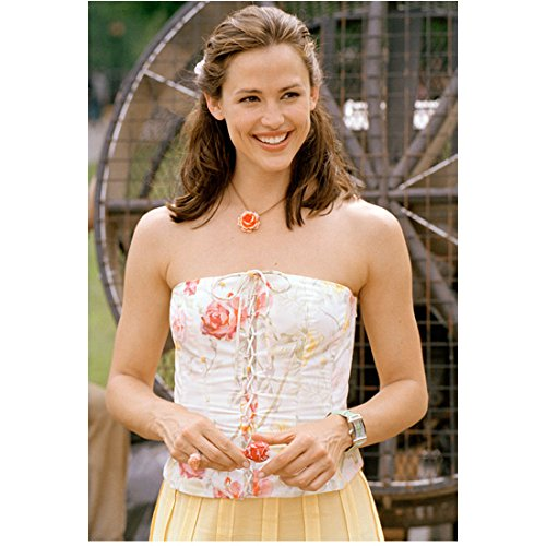 13 Going on 30 8x10 Photo Jennifer Garner Smiling Strapless Dress in Front of Fan Darling Smile kn