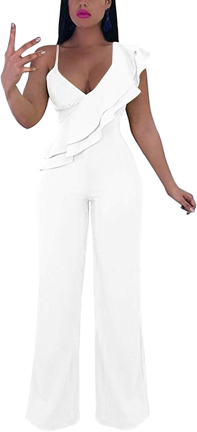 Amazon.com: Cosics - Mono elegante para mujer con pantalón ...