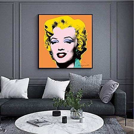 Hao Sai's shop Cartel Andy Warhol Imagen Marilyn Monroe Mujeres Sexy Impresiones Lienzo Pintura Arte De La Pared Imágenes para La Sala Cuadros Decoración para El Hogar B21 50X70Cm Sin Marco