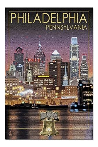 Philadelphia, Pennsylvania - Skyline at Night (20x30 Premium 1000 Piece Jigsaw Puzzle, Made in USA!)