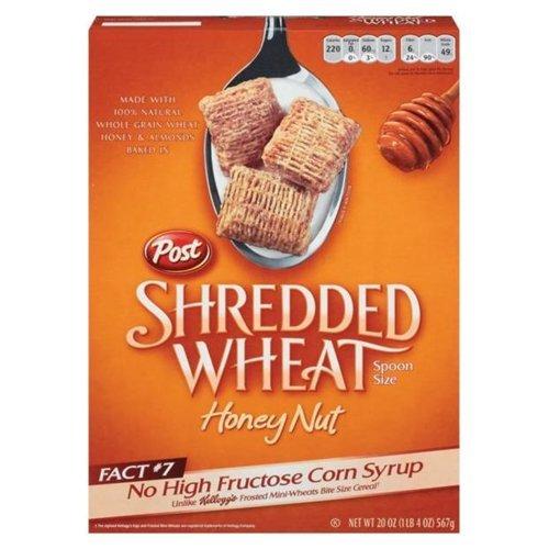 Post Honey Nut Shredded Wheat Cereal 20 oz (Pack of 12) by Post Shredded Wheat
