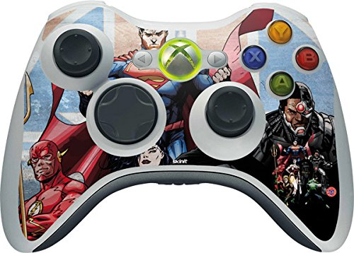 DC Comics Justice League Xbox 360 Wireless Controller Skin - Justice League Heros Vinyl Decal Skin For Your Xbox 360 Wireless Controller