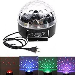 Docooler Mini Led Rgb Crystal Magic Ball Effect Light Dmx Disco Dj Stage Lighting