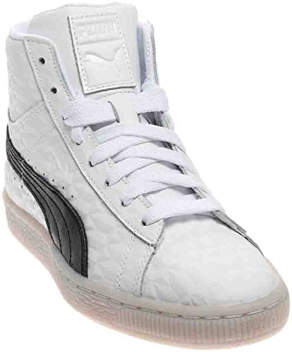 58fb5b388515 Image Unavailable. Image not available for. Color  PUMA Basket Classic Mid  Emboss Jr (Kids)