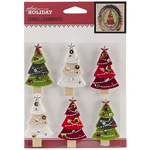 Jolee's Boutique Felt Christmas Tree Stickers