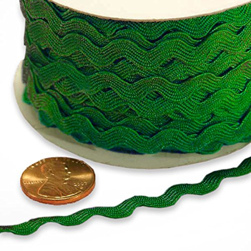 - 5 mm X 25 Yards Emerald Ric Rac Trim