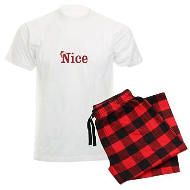 1fb8b39b23 CafePress - Half Of Naughty And Nice Set Pajamas - Unisex Novelty Cotton Pajama  Set