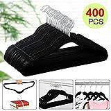 Yaheetech 17.7''/45CM Velvet Suit Hangers - 400-Pack - Black