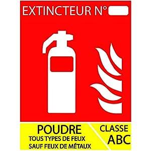 ABC - Panel extintor en polvo (100 x 150 mm): Amazon.es ...