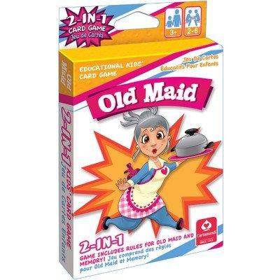 Kelli's Shop Cartamundi 1432 2 in 1 Card Games Old Maid & Memory Multicolor