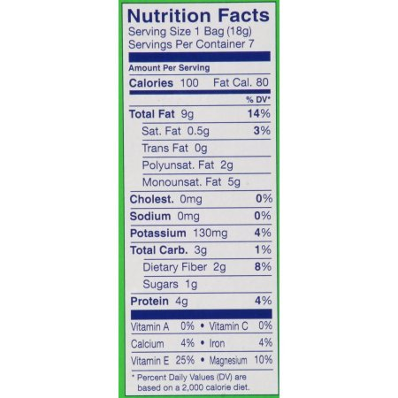 Blue Diamond On-the-Go Whole Natural Almonds 7-0.625 oz. Bags, Pack of 2