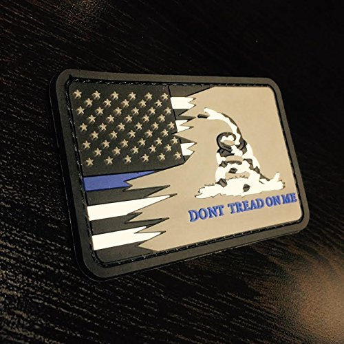 Blue Treads (Don't Tread On Me US Flag Patch - Blue Line)