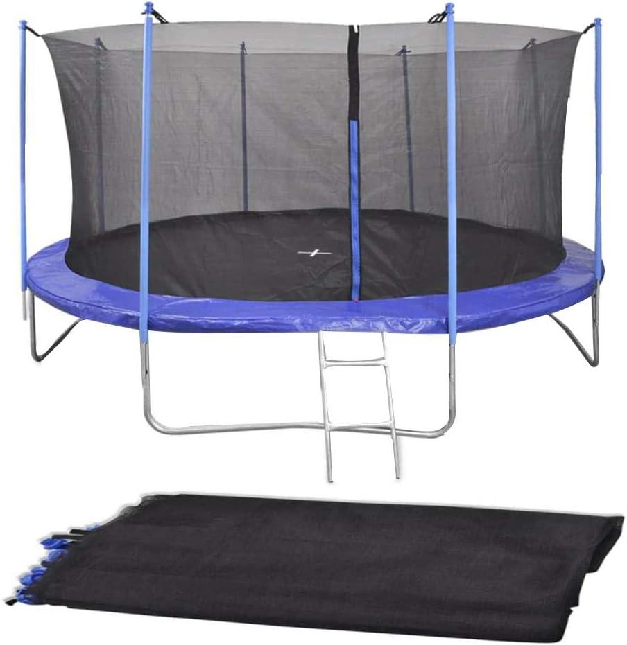 Cama elástica deportiva para niños, cama elástica redonda con red de salto de obstáculos y tapa con resorte. La carga máxima para niños y adultos es de 120 kg
