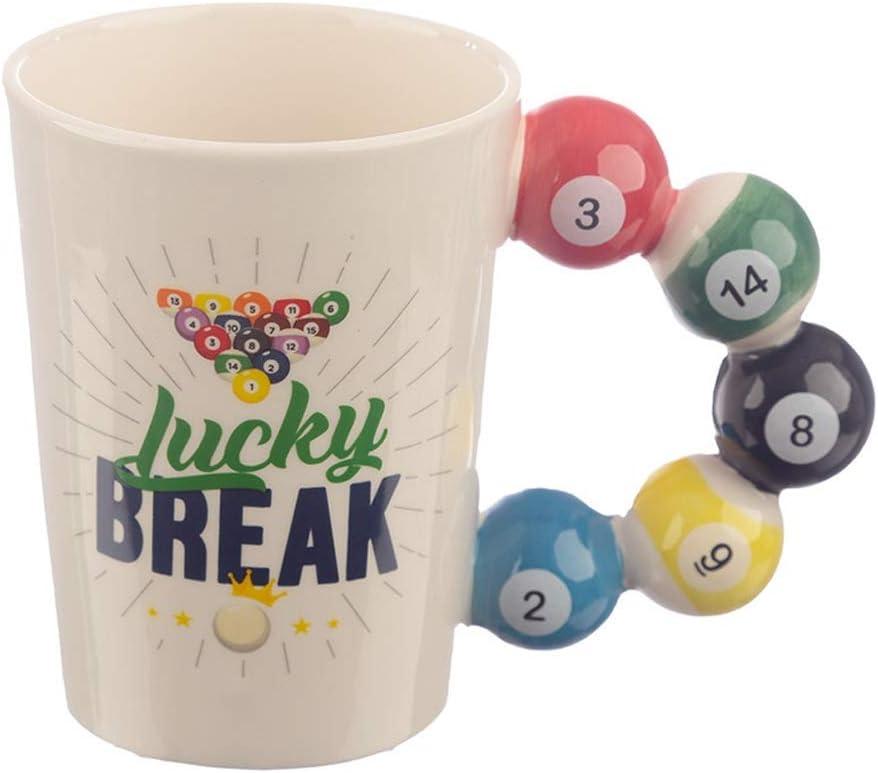 SWE - Tazas de té, tazas de café, divertidas tazas de cerámica para té con mango de ping-pong, 420 ml, vaso de agua para beber leche, regalo creativo para deportistas, amigos, profesores