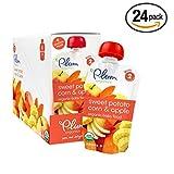 Plum Organics Second Blends, Sweet Potato Corn Apple, 4.0 Ounce (Pack of 24) (Corn Sweet Potato Apple Value Pack 24 Pouches)