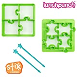 LunchPunch PUZZLES Sandwich Cutter Set - ORIGINAL SHAPES - Lifetime Replacement Guarantee - BPA FREE - Remove Crusts and Create Fun Bites to Fit in a Kids Bento Lunch Box!