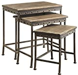 Cheap Coaster Furniture 901373 Antique Brown Nesting Table (Set of 3)