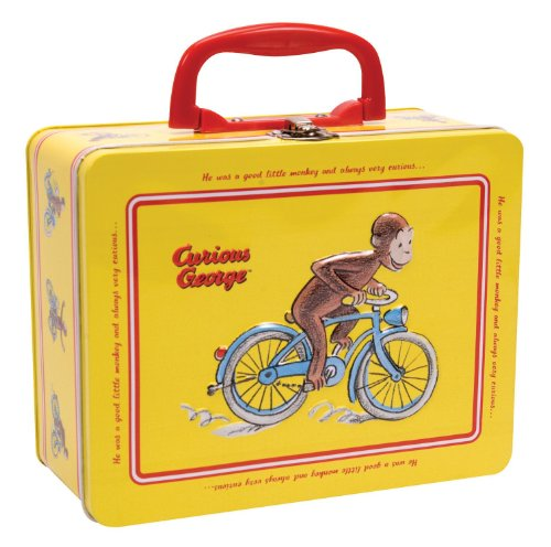 Curious George Tin Keepsake Box with Latch by -