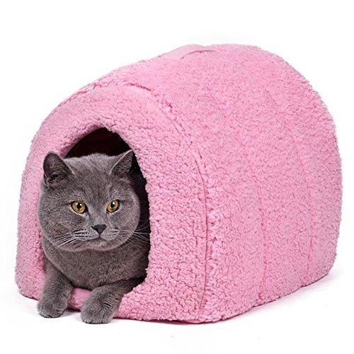 Súper Cálido Acogedor Durable Cama para Perro Gato Caverna Cama Peludo Perrera Casa para Perros Iglú Mascota Cubo para Mascotas Cama para Pequeños Animales ...