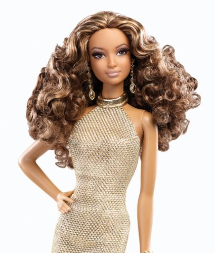 51TmiHAfa2L - Barbie The Look Red Carpet Black Label Collector: Gold Dress Barbie Doll