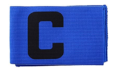 Timelyo® Kapitänsbinde für Fußball-Mannschaft / Rugby / Handball / Basketball / Sport usw. Schwarz Blau