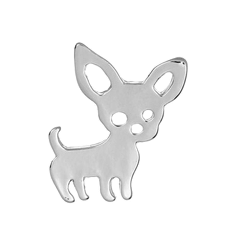 Lovely Cartoon Dog Women Girl Plated Silver Alloy Brooch Boy Simple Vintage Breastpin Clothes Decoration