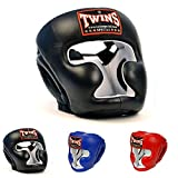 Twins Special Headgear Head Guard HGL-3 Color Black Blue Red Size S, M, L, XL for Protection in Muay Thai, Boxing, Kickboxing, MMA review