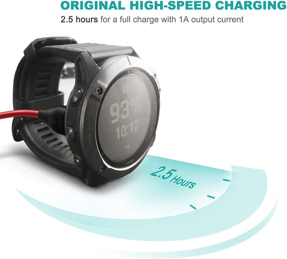 TUSITA Type C Charger Cable for Garmin Fenix 6 6S 6X Pro Sapphire,Fenix 5 5S 5X Plus,Forerunner 935 945 45 45S 245,Approach S10 S40 S60 X10,Quatix 5 Sapphire,Vivoactive 3 4 4S,Vivomove 3 3S,Vivosport