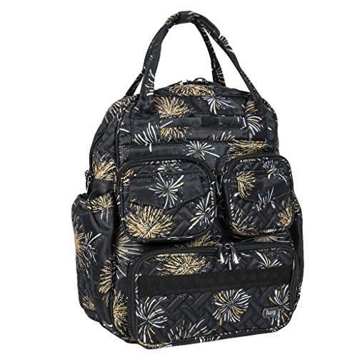 Lug Women's Mini Puddle Jumper Shoulder Bag, Lightweight Tote Bag, Firework Black ()