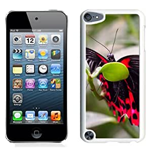 New Custom Designed Cover Case For iPod 5 Touch With Black And Punk Butterfly Animal Mobile Wallpaper (2) Phone Case