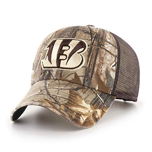 (OTS NFL Cincinnati Bengals Male Ledgewood Challenger Adjustable Hat, Realtree, One Size)