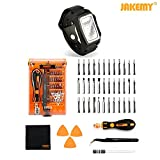 Jakemy Screwdriver Set with Magnetic Wristband, 44 in 1 with 36 Magnetic Driver Bits...