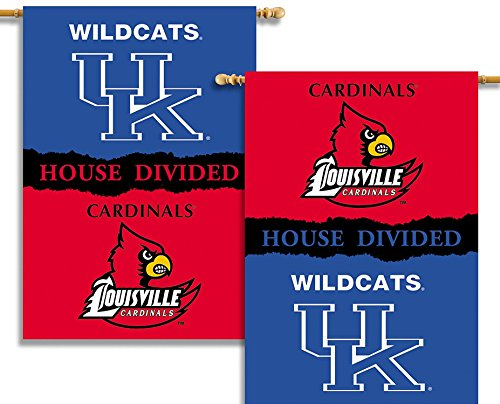 NCAA Kentucky - Louisville 2-Sided 28-by-40 inch House Banner with  Pole Sleeve- Rivalry House ()