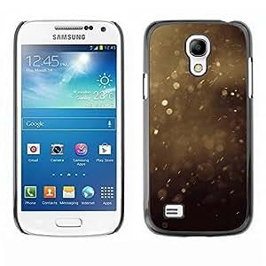 Be Good Phone Accessory // Dura Cáscara cubierta Protectora Caso Carcasa Funda de Protección para Samsung Galaxy S4 Mini i9190 MINI VERSION! // Summer Dust Specks Brown Nature